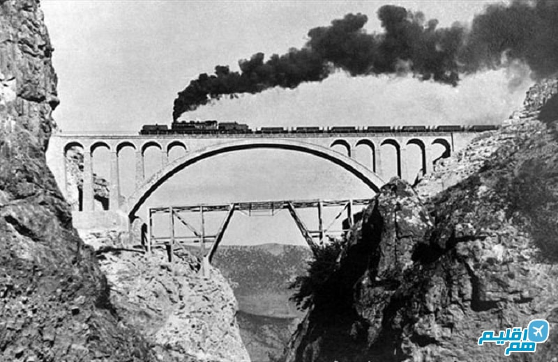 اولین قطار روی پل ورسک