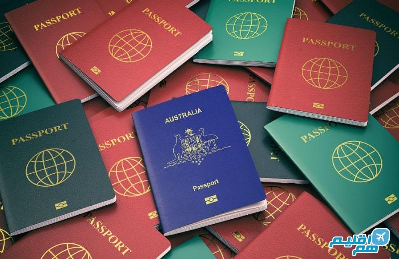 رنگ پاسپورت ها