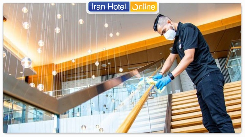 رعایت پروتکل های بهداشتی در هتل ترنج کیش